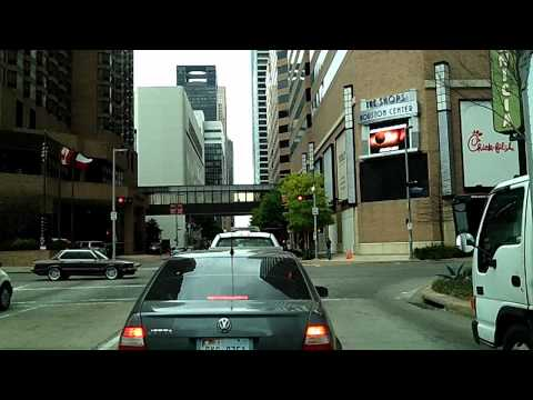 Tour Of Downtown Houston, Out To San Jacinto Monument, Texas Dashcam