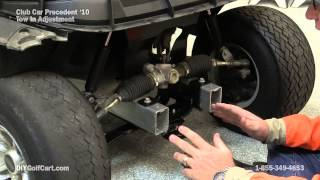 How to Adjust the Toe In on a Club Car Precedent Golf Cart