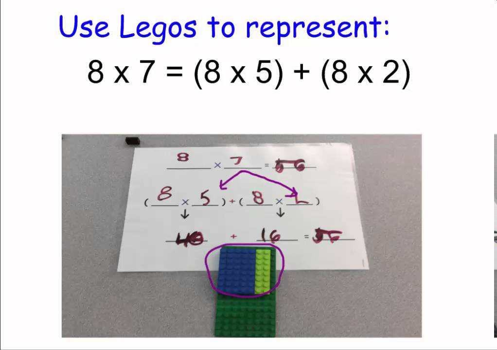 3rd grade lego distributive property for multiplication youtube. Black Bedroom Furniture Sets. Home Design Ideas