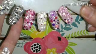 Recreacion mix no 2 de la coleccion lady mix rosa de fantasy nails