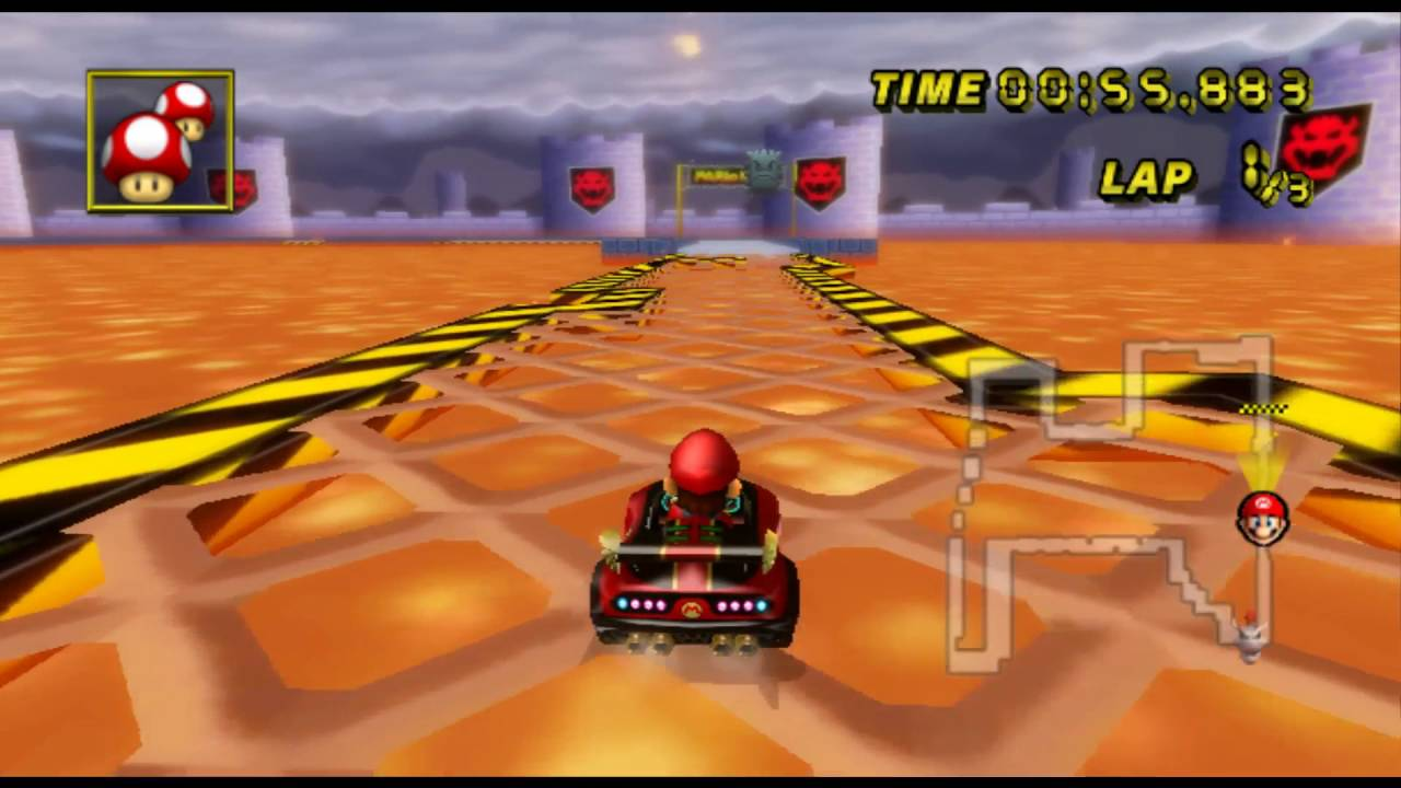 Mario Kart Wii Gameplay Time Trial Gba Bowser Castle 3