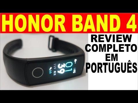 🔴 HUAWEI HONOR BAND 4 Brasil Review Completo e Demonstração em Português