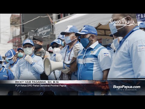 Demokrat Papua Bagi 5.200 Masker Gratis Ke Masyarakat