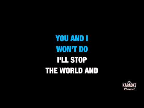 "I Melt With You in the Style of ""Modern English"" karaoke video with lyrics (no lead vocal)"