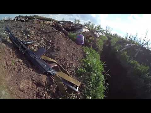 Almost Ukraine War - Helmet Cam Combat Footage. Ukrainian Reconnaissance Group Engaged in a Firefigh