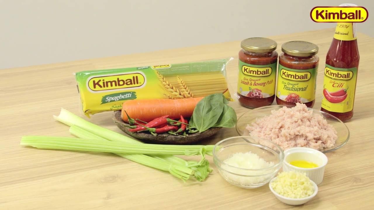 Kimball Recipe Spageti Bolognese Kimball Pedas Meletup Youtube