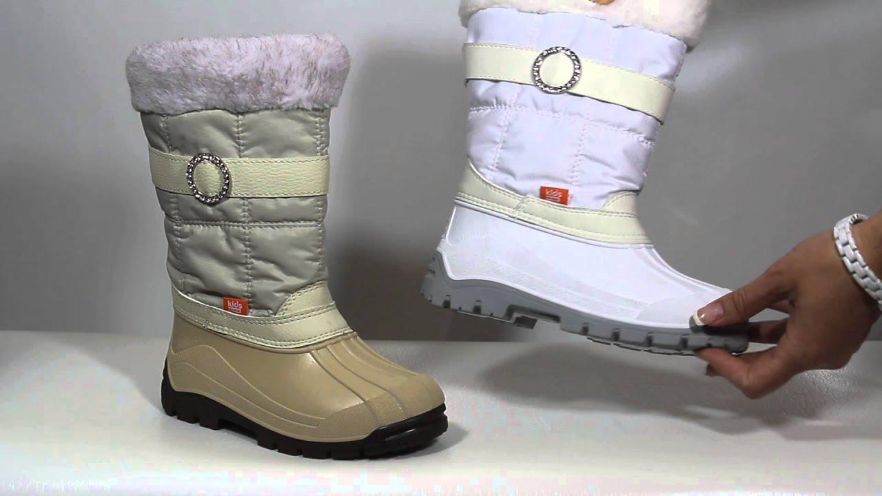 Детские зимние сноубутсы Demar Furry A,B,C - YouTube