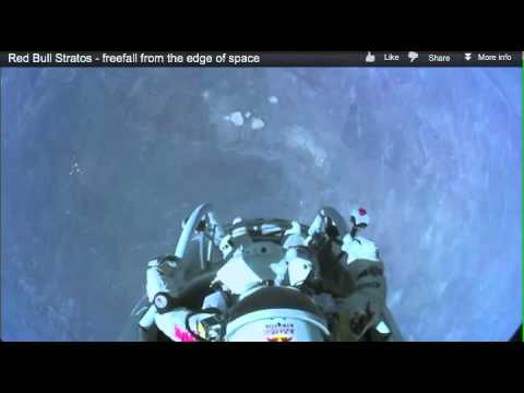 Felix Baumgartner Stratos Redbull Jump Live Incredible. What goes up must come down.