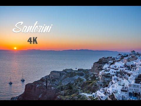 Sunset Santorini - Greece 4K - Drone Footage