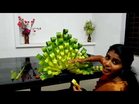 how-to-make-bouquet#diy-crafts#-palm-leaves/-tender-coconut-leaves-decorations-/5-minutes-crafts