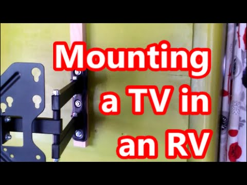 Mounting A Flatscreen Led Tv In An Rv Paper Thin Walls Youtube
