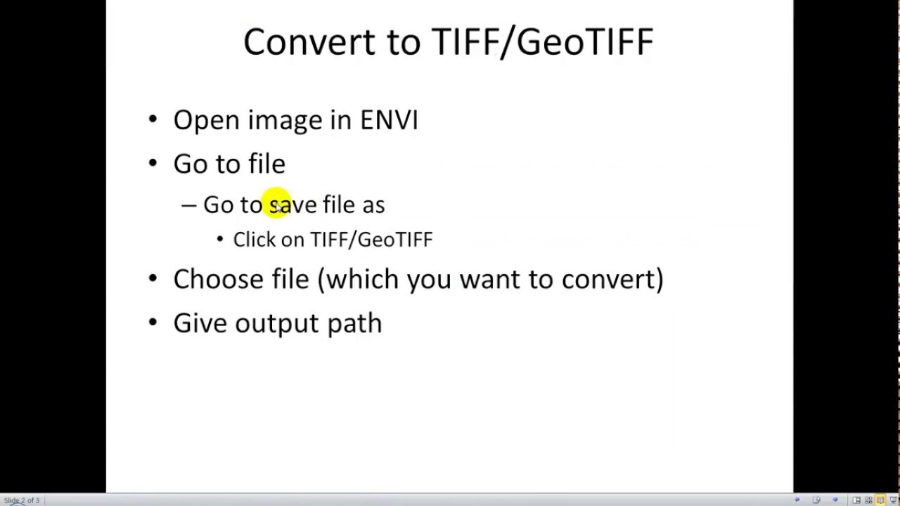 convert to tiff envi | save as tiff