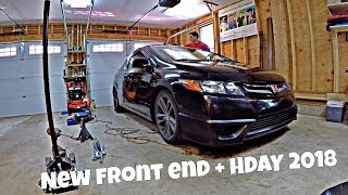NEW FRONT END LOOK FOR MY HONDA CIVIC SI