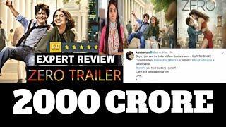 Zero Movie Trailer Review | Shahrukh khan |Salman Khan| Katrina Kaif | Anushka Sharma