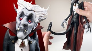 Sculpting with RUBBER! Making DRACULA - Sculpture Process & Cosclay First Impressions