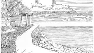 Speed Drawing: Jamaica, Rockhouse
