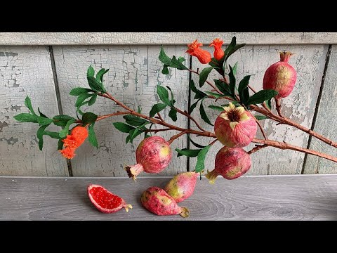 ABC TV   How To Make Pomegranate Branch From Crepe Paper - Craft Tutorial