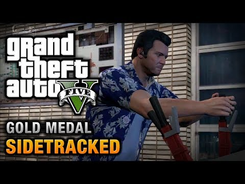 GTA 5 - Mission #78 - Sidetracked [100% Gold Medal Walkthrough]