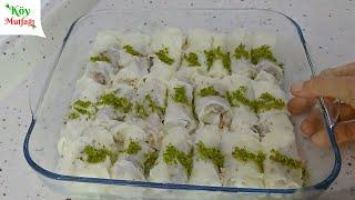 #2 Ramazan Tarifleri   Sütlü Güllaç Dolması   Emine'nin Köy Mutfağı