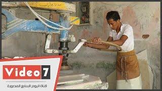 """""""شق الثعبان"""" عاصمة صناعة الرخام فى مصر وأفريقيا مهددة وعمالها """" مفيش حد بيسأل فينا"""""""