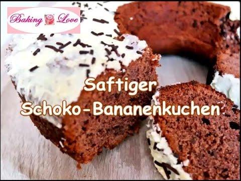 Zarter Schoko Bananenkuchen Mit Leckeren Schokostuckchen Super