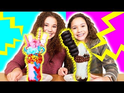 Haschak Sister vs Haschak Sister ULTIMATE Milkshake Challenge!!