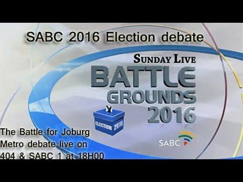 SABC Election Debate, The Battle for Johannesburg Metro: 10 July 2016