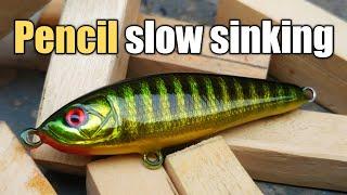 Cara membuat lure pencil slow sinking, umpan terbaik untuk spot dangkal