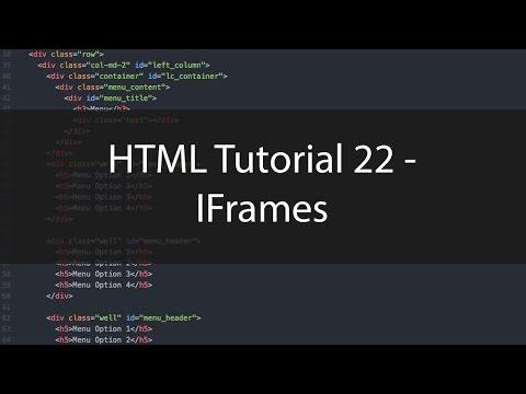 HTML Tutorial 22 - IFrames