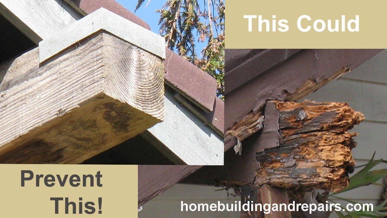 Exterior: Exterior Metal Beam Caps Can Prevent Wood Damage