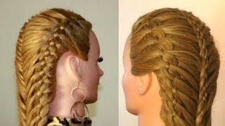 Прическа с плетением на длинные волосы. Peinado con trenzas