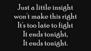 it ends tonight lyrics