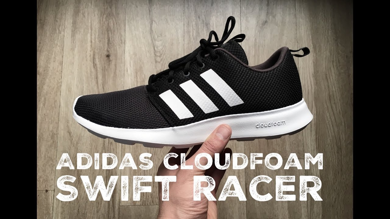 4d17ab53c Adidas Cloudfoam Swift Racer ˋCore Black Whiteˋ