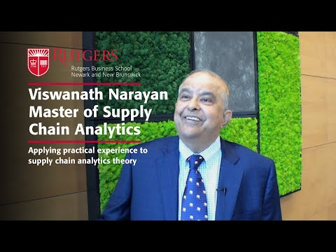 Rutgers Business School Lecturer brings industry experience to Master of Supply Chain Analytics