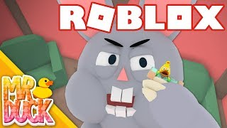 THE EASTER BUNNY WANTS TO EAT ME!? - Roblox Escape the Easter Bunny Obby