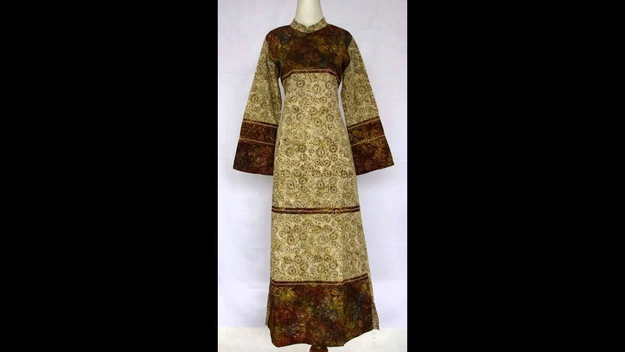 Abaya Baju Muslim Modern Motif Batik Solo Youtube