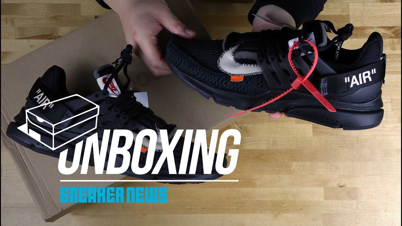 "check out bd0c0 5f314 Off White Nike Presto ""Black"" Unboxing + Review"