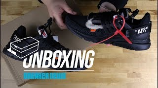 "Off White Nike Presto ""Black"" Unboxing + Review"