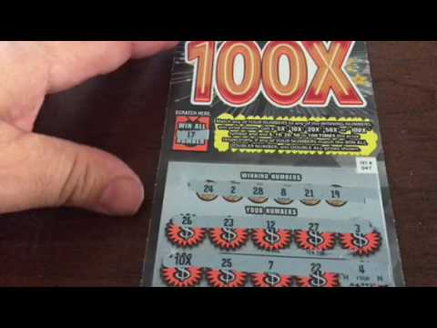 The New 100X Ticket from the Mass Lottery