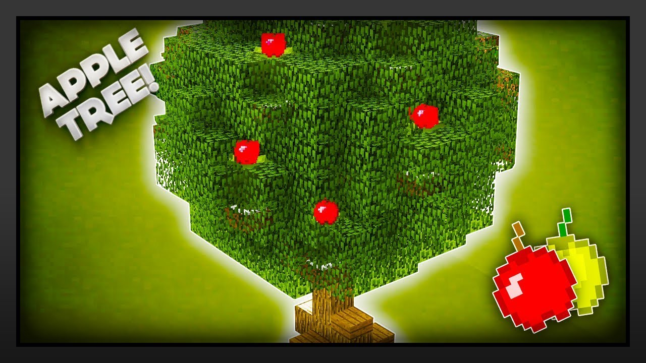 Minecraft How To Make An Apple Tree Without Custom