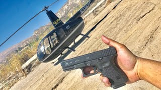 Glock 19 Helicopter Drop test