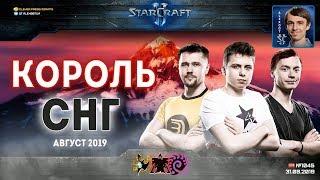 Король СНГ в StarCraft II: Самый Юный Король! Август - 2019