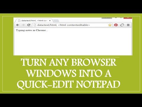 Amazing Trick! turn any browser into basic text editor - iTech Best