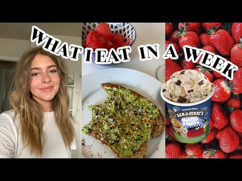 WHAT I EAT IN A WEEK to stay fit!