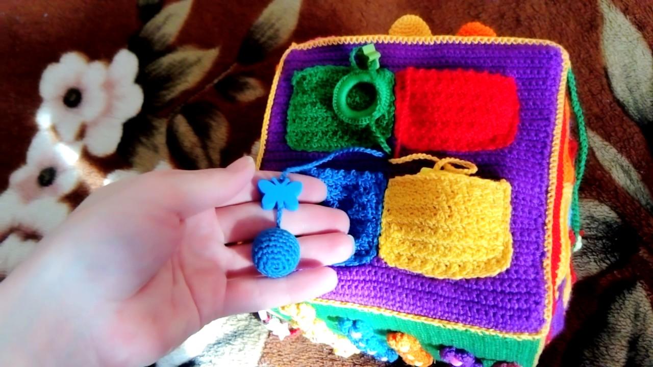 развивающий кубик 3 крючком