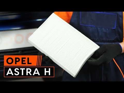 Så byter du kupéfilter på OPEL ASTRA H Guide