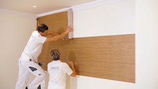 Horizontal wallpaper installation