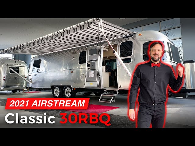 WOW!!! New 2021 AIRSTREAM Classic 30RBQ Queen Full Walk Through Tour