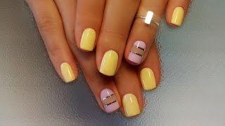 Дизайн ногтей гель-лак shellac - Декоративная лента (видео уроки дизайна ногтей)
