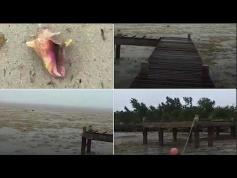 L'ouragan Irma a aspiré l'eau des plages des Bahamas, mais ce n'est pas un tsunami